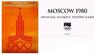 OFFICIAL AOC OLYMPIC POSTER CARD - MOSCOW 1980 (sealed in envelope)