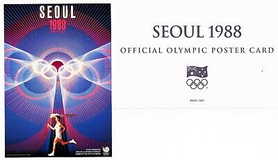 OFFICIAL AOC OLYMPIC POSTER CARD - SEOUL 1988 (sealed in envelope)