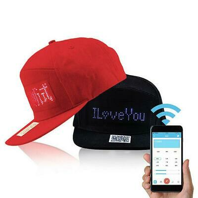 LED Light-Emitting Message Hiphop Cap-Baseball Adjustable Cap Hat Red/Black Hot