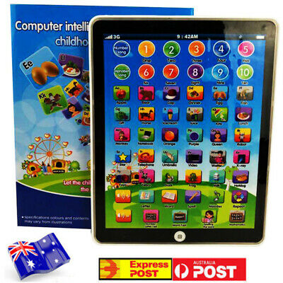 Kids Children Tablet Pad Educational Learning Toys For Boys Girls Baby Gift AU