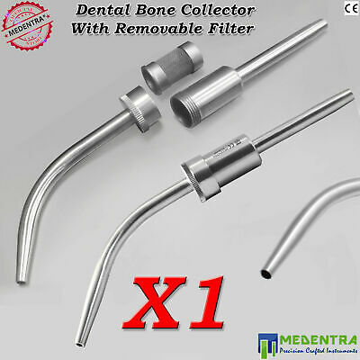 Dental Implants Bone Collector Aspirator Bone Graft Suction Removable Filter X1