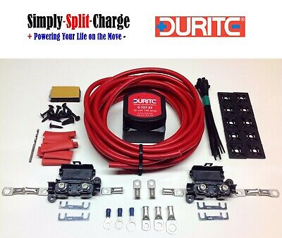 Durite Split Charge Kit 0-727-33 12v 140amp Relay 110amp 16mm² Cable (5mtr Kit)