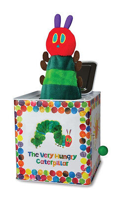 NEW The Very Hungry Caterpillar Traditional Musical Tin Jack in The Box