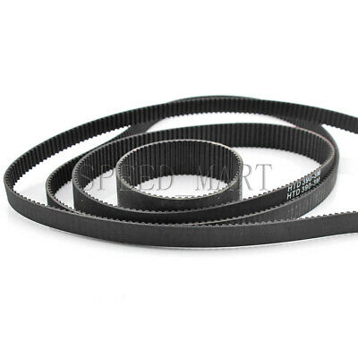 HTD3M Timing Belt Cogged Rubber Geared Closed Loop 10/15/20mm Wide 303-384