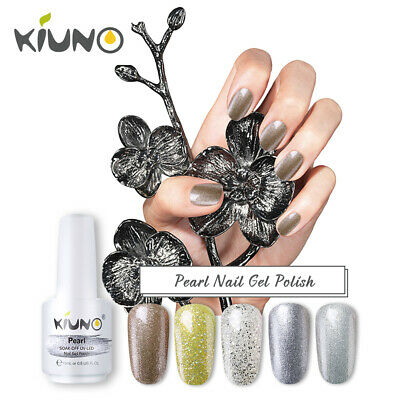 KIUNO Perla Esmaltes de Uñas Gel UV LED Semipermanente Manicura y Pedicura 15ML