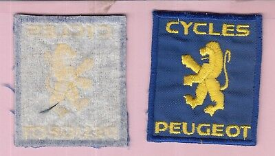 écusson badge patch brodé lion cycles PEUGEOT