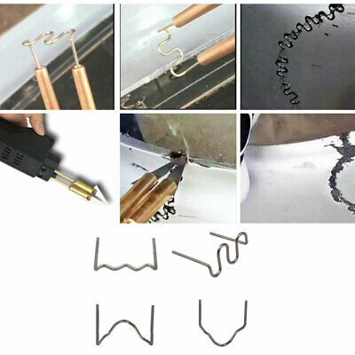 100Pcs Staples Bumper Fender Weld Gun Plastic Repair Kit For Repair Bumper Crack