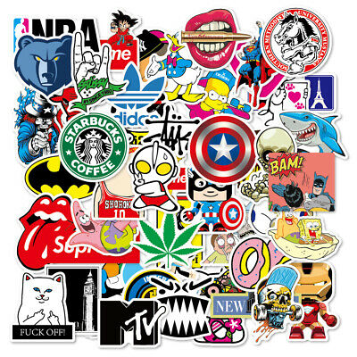 100 Skateboard Stickers bomb Vinyl Laptop Luggage Decals Dope Sticker Lot cool