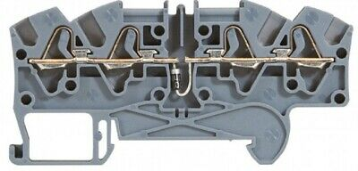 Legrand VIKING-3 SPRING TERMINAL BLOCK 5mm Pitch, 4-Wires Diode Carrier GREY