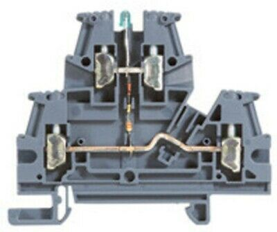 Legrand VIKING-3 SCREW TERMINAL BLOCK 6mm Pitch, LED 2-Connect On 2-Levels GREY