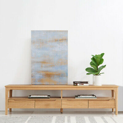 Modern Abstract Oil Painting Hand Painted Wall Art Home Decor Framed Beach