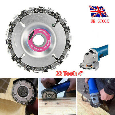 Angle Grinder Chain Disc 22 Tooth 4 Inch Chainsaw for Carving Wood Plastic ice