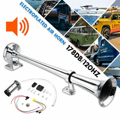 178DB Single Trumpet Air Horn Compressor Kit For Train Car Truck Boats + Wire EB
