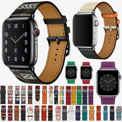 AU Band Single Tour Real Leather iWatch Wrist Strap for Apple Watch Series 4321