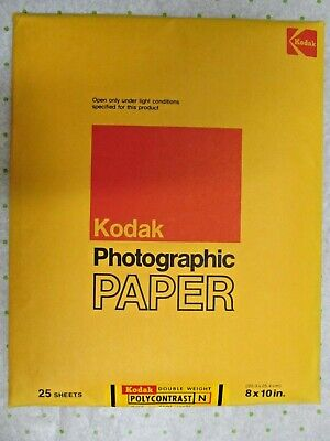 VTG Kodak Polycontrast Photographic Paper N 8x10 NOS 50 Sheets Double Weight