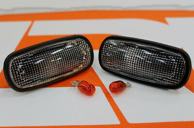 Pair XS SIDE WING clear repeaters indicators Fit Land Rover Defender 90 110