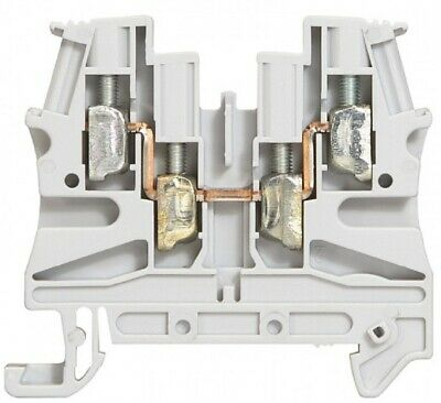 Legrand VIKING-3 SCREW TERMINAL BLOCK 6mm Pitch, 1-Connection 2-Entry/2-Out GREY