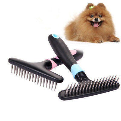 Pet Fur Shedding Remove Grooming Rake Comb Brush Dogs Cat Long Short Thick Hair