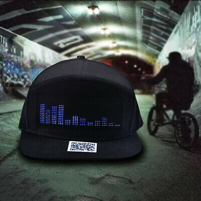Fashion LED Message Hiphop Cap Baseball Adjustable Cap Hat Men Boys COOL