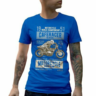 A629RB Mens Crew Neck T-Shirt Caferacer Motorcycles Classic Race Speed Born To R