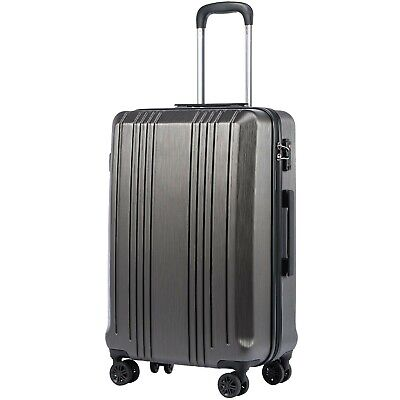 """Coolife Luggage Expandable(only 28"""") Suitcase PC+ABS with TSA Lock Spinner 20..."""