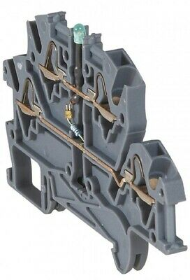 Legrand VIKING-3 SPRING TERMINAL BLOCK 5mm Pitch, 4-Wires 2-Levels Diode Carrier