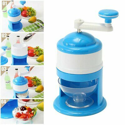 Portable Manual Ice Crusher Cone Maker Household Hand Crank Ice Grinding Machine