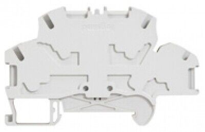 Legrand VIKING-3 SPRING TERMINAL BLOCK 6mm Pitch, 2-Connections 2-Levels GREY
