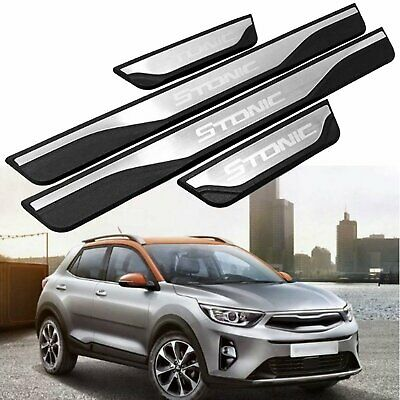 For KIA STONIC 2017 2018 2019 Car Outer Side Door Sill Guards Scuff Plate Trim