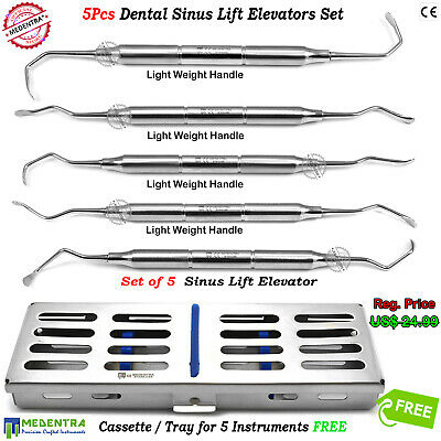 Dental Sinus Lift Periosteal Elevators Surgical Implant Surgery Tools+Cassette