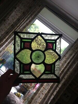 Old victorian piece of stained glass