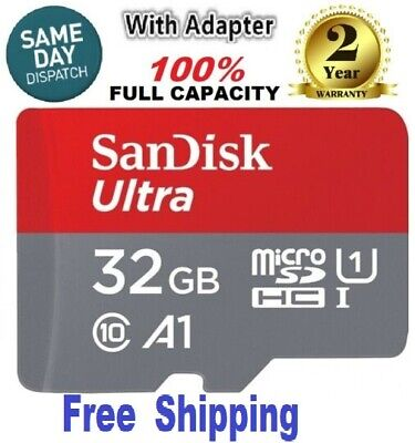 SanDisk Ultra 32GB microSDHC UHS-I Card with Adapter - SDSQUAR-032G-GN6MA