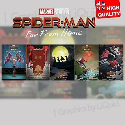 Spiderman Far From Home Movie Film 2019 Chinese Art Posters   A4 A3 A2 A1  