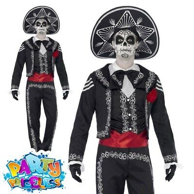 Senor Bones Costume Day of the Dead Mens Adult Fancy Dress Halloween Outfit