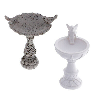 1:12 Doll House Miniature Fairy Garden Furniture Resin Birds Bath Fountain*JB