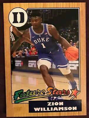Zion Williamson 2015 Future Stars Rookie Card Rc 1987 Style