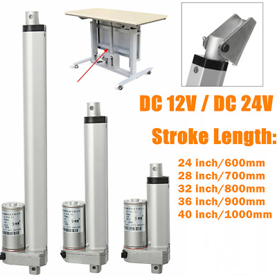 "12V/24V DC Stroke 600mm-1000mm 24""-40"" inch Linear Actuator Motor Fast Speed"
