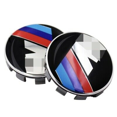 4 x68mm Gloss alloy wheel centre caps 10 Pin will fit BMW M sport most series