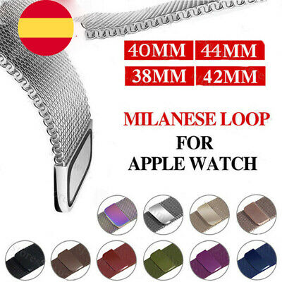 Para Apple Watch 38 42 40 44mm Magnético Milanese Loop Banda de acero inoxidable