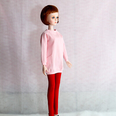 """Fashion doll clothes skinny pants leisure trousers for 1/4 BJD 17"""" doll, Red"""