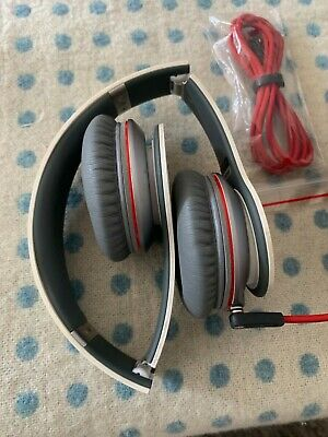 beats by dr. dre solo hd headphones wired white headband.  Spare cable