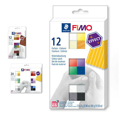 FIMO Effect Colour Pack 12 Half Blocks Arts & Crafts
