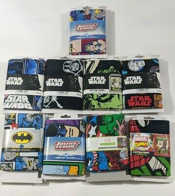 "Star Wars Marvel Justice League Fabric 1 YARD CUT 36"" X 44"""