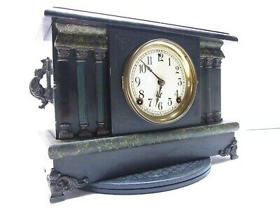 Sessions Antique Black Mantle Clock Untested As Is