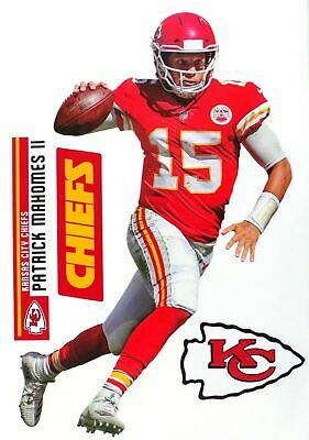 "Patrick Mahomes Kansas City Chiefs 4 Piece Fathead 11""x17"" Wall Graphic Decals"
