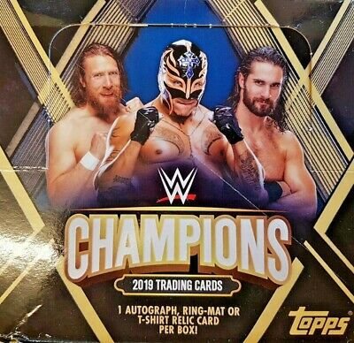 Topps Wwe Champions 2019 Trading Cards = Full Box = 24 Packets = 9 Cards/Packet