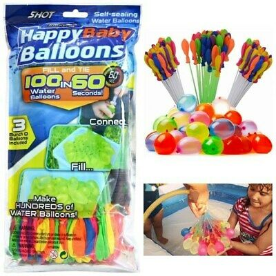 111 Fast Fill Magic Water Balloons Self Tying O Water bombs Summer Children Toys