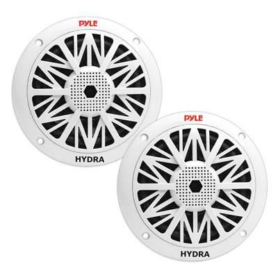 Pyle - PLMR52 - Pair of 150 Watts 5.25'' 2 Way White Marine Speakers