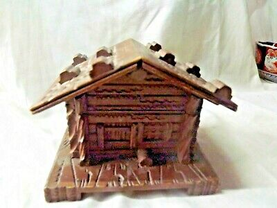 Vintage Black Forest Chalet Style Small Box