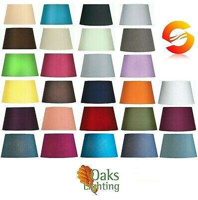 Shade Gimble supplied seperately Oaks Lighting Grey Cotton Coolie Shade Soft 16-inch